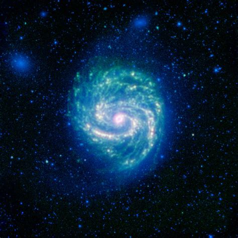 hot  cold    galaxy nasa spitzer space telescope
