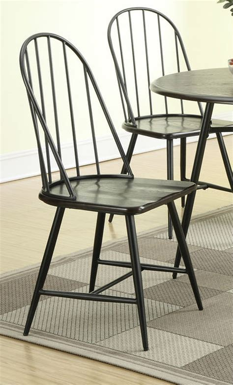 black metal dining chairs dining room chairs