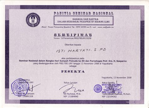 contoh sertifikat tpa studio design gallery best design
