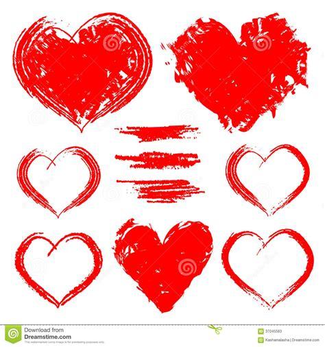 imagenes de corazones dibujados a mano sistema del vector de corazones dibujados mano aislados en