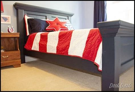 diy pottery barn inspired bed headboard footboard