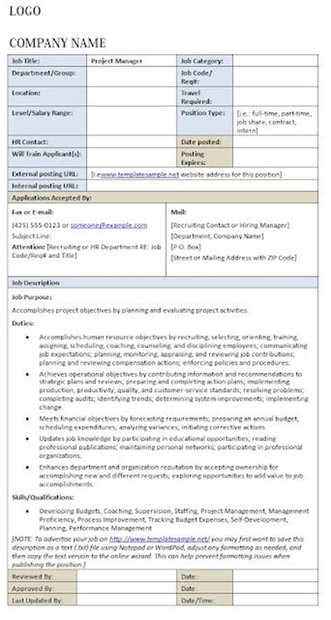 18 Best Images About Job Descriptions On Pinterest Labor Human Resources And Cover Letters Hr Council Description Template