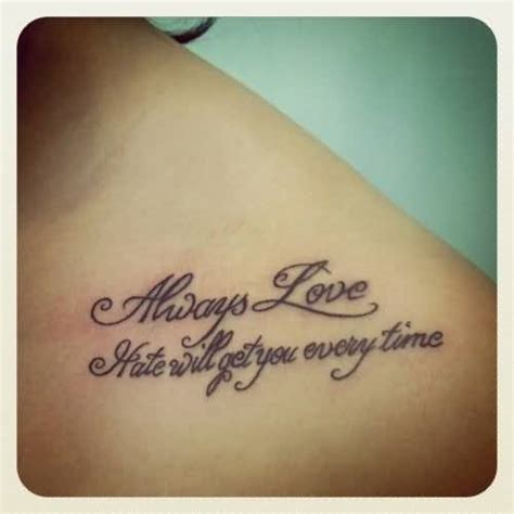 love always tattoo designs collarbone text ideas and collarbone text