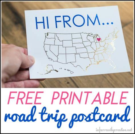 printable travel postcards free printable road trip postcards