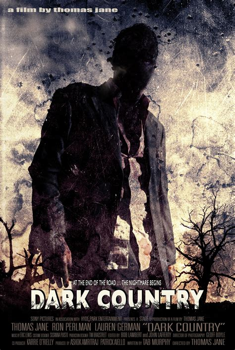 dark posters movie poster for thomas jane s new film dark country
