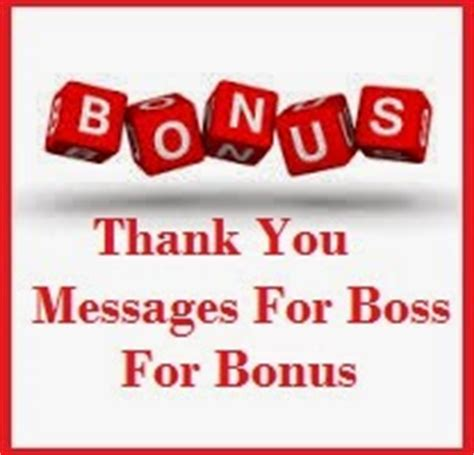 Thank You Note For Bonus Thank You Messages