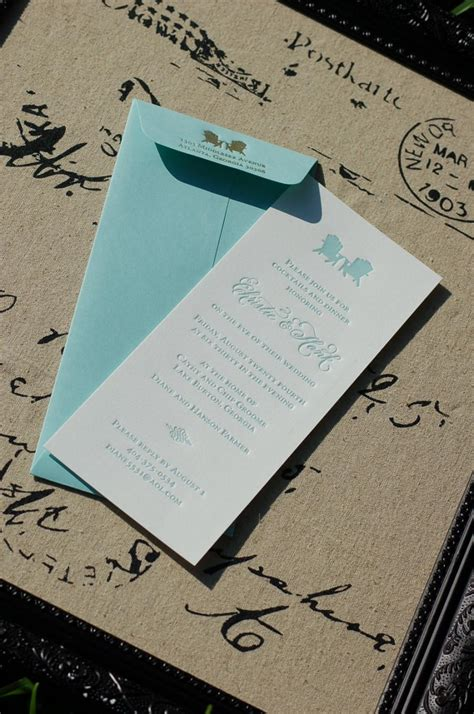 Wedding Invitations Lake Theme by Letterpress Rehearsal Dinner Invitations Deposit