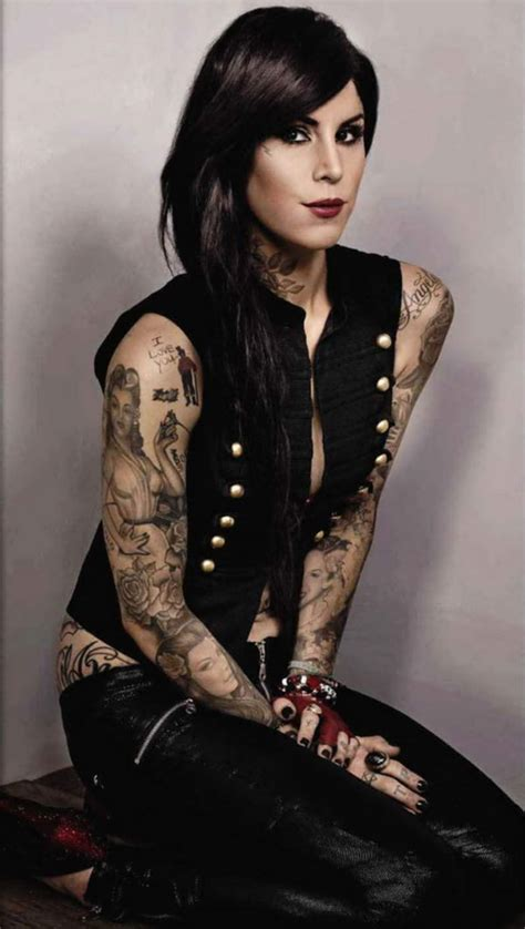 beauty of kat von d tattoo design trend hairstyle 2014