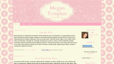cute blogger layouts cute blogger templates free cute