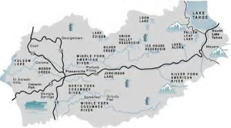 Map of el dorado county
