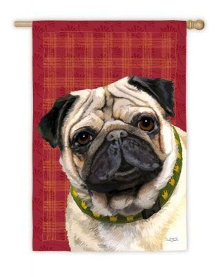 pug dog house pug fawn dog house garden flag decorative 12 5 quot x 18 quot