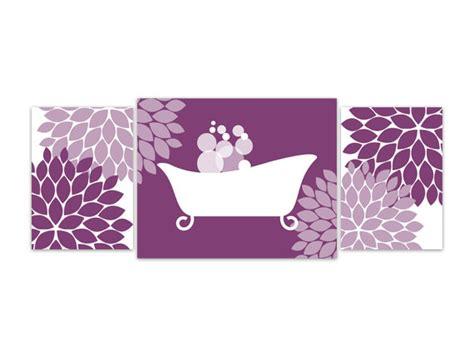 purple bathroom wall art items similar to bathroom wall art purple and white