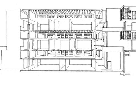 salk institute plan pinterest decks note and more salk institute structural perspective section of