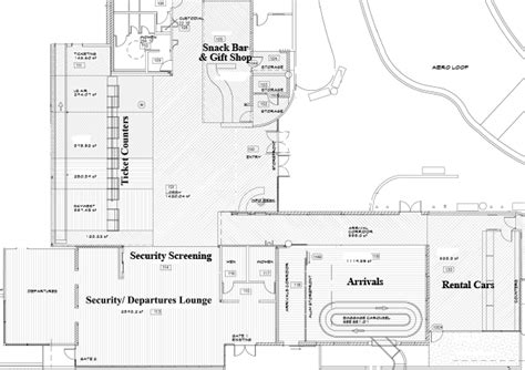 airport terminal layout design terminal map sbp san luis obispo county regional airport