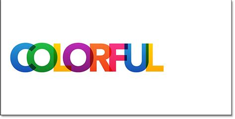 color text colorful overlapping letters text effect in photoshop