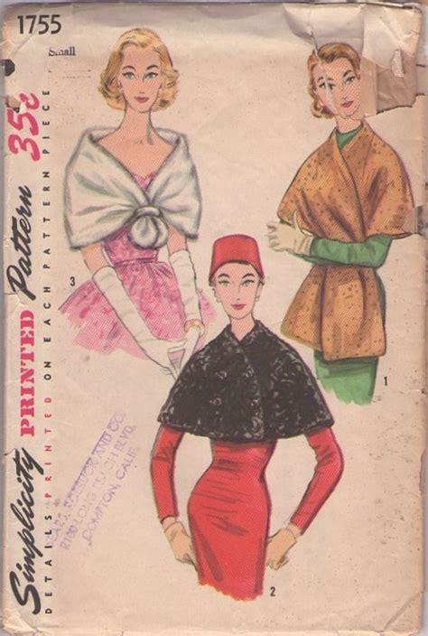 vintage pattern cutting 18 99 vintage 50s faux fur wrap stole set pattern