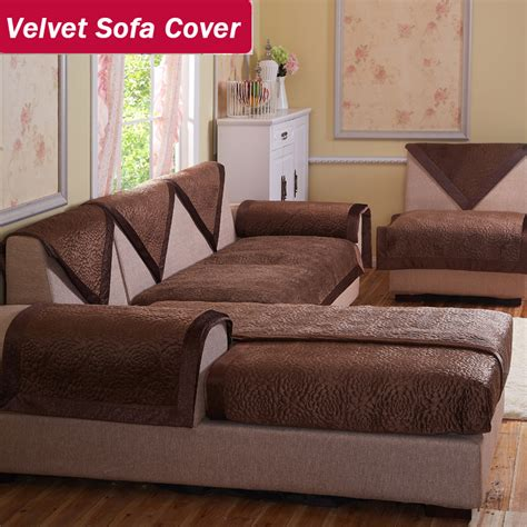 velvet fabric sofa brown decorative sofas covers double