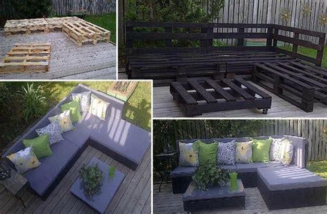 transformation de palette en salon de jardin les petites