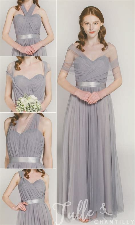 Tulle Convertible Multi Wear Bridesmaid Dress Tbqp307