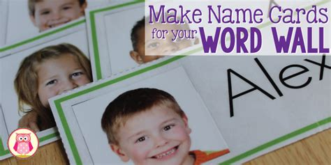 name cards template for classroom name cards make name cards for your word wall early
