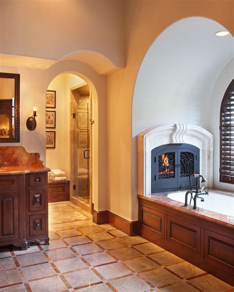 Bathroom Gas Fireplace by Lake Home Master Bath 183 More Info