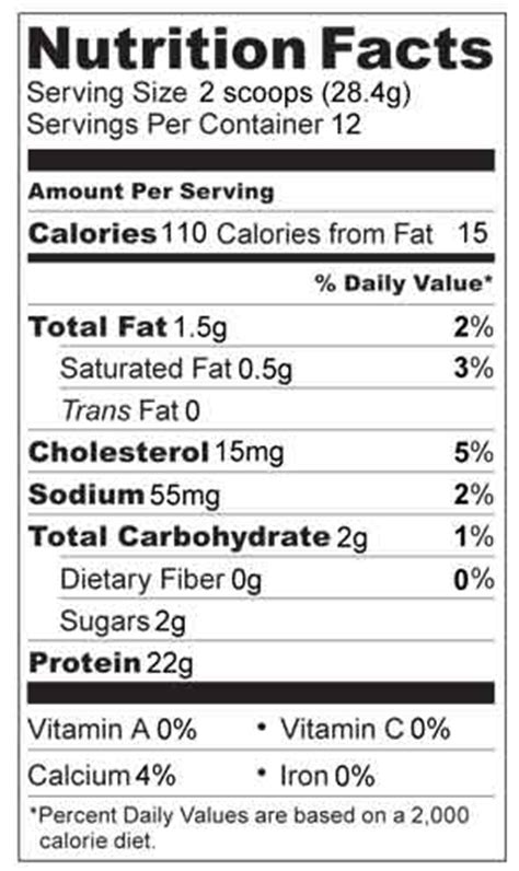 bud light nutrition label organic whey protein nutrition facts