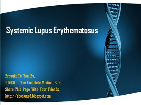 Systemic Lupus Erythematosus Powerpoint Presentation Free Download E Med Sle Sales Presentation Powerpoint Template
