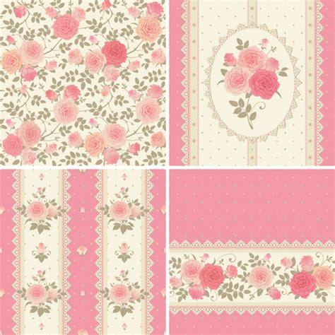 pattern pink rose vetor pink rose pattern background vector material 04 vector