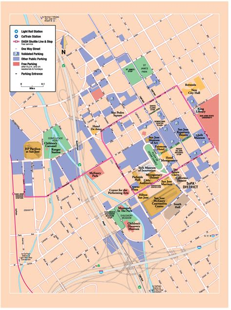 san jose parking map san jose downtown map san jose ca mappery