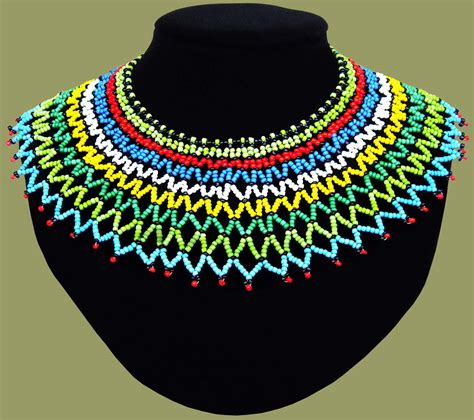 traditional beadwork necklaces beaded necklaces