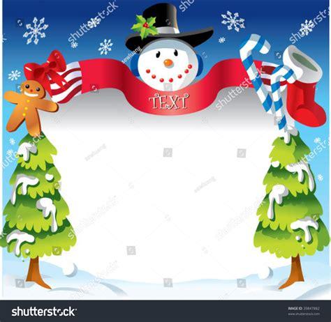 kerst layout word christmas border stock vector 39847882 shutterstock