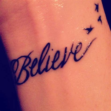 believe tattoo on hand hand believe tattoo tattoomagz