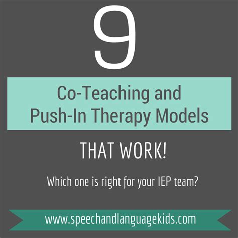 therapy colorado 9 co teaching and push in therapy models that work speech and language