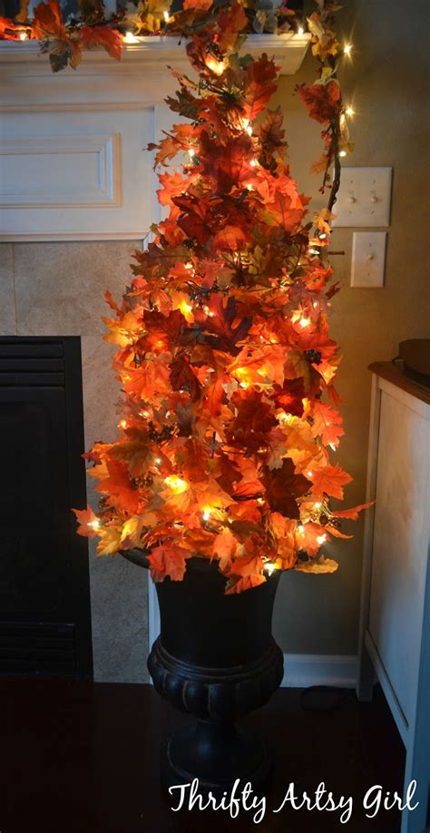 fall tree decorations easy diy fall leaves potted topiary tree from a tomato
