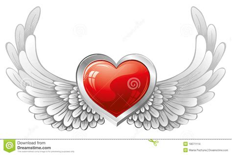 tattoo cuore con le ali cuore con le ali illustrazione vettoriale illustrazione