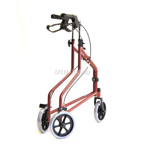 tri wheel walker with seat tri walker with brakes folding three wheel walker in