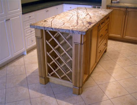 Kitchen Island Wine Rack by Continental Kitchen Design Inc