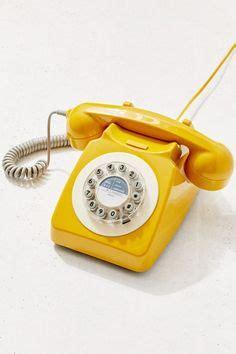 vintage custom  tone rotary dial desk phone prop  photo shoot custom retro phone yellow
