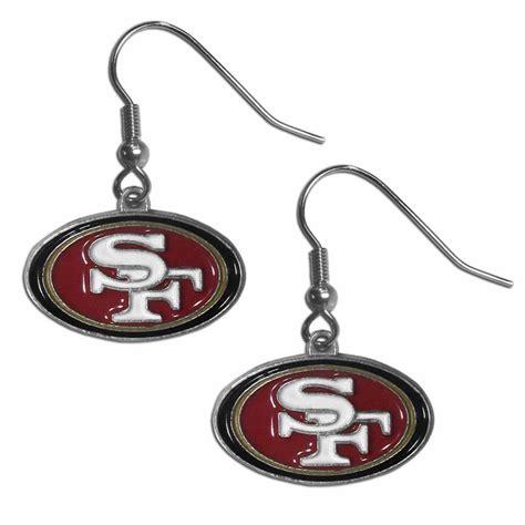 san francisco 49ers dangle earrings f