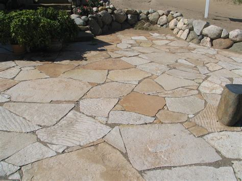 Creek Rock Patio by Flagstone Patios And Flagstone Walkways