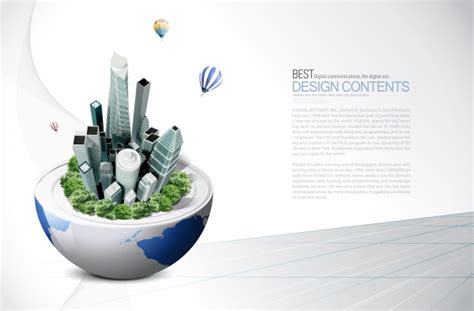 creative technology background psd material over