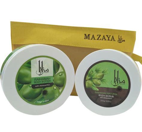 Pelembab Mazaya paket bodu butter scrub mazaya skin care