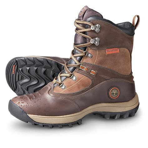 s timberland 174 waterproof snowbasin pac boots brown