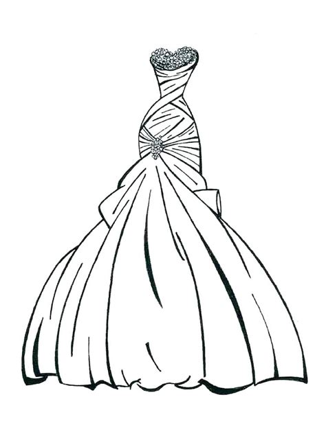 Coloring Page Dress by Dresses Coloring Pages Clothing Colouring Pages
