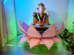 How To Make Lotus With Thermocol My Home Ganpati Decoration