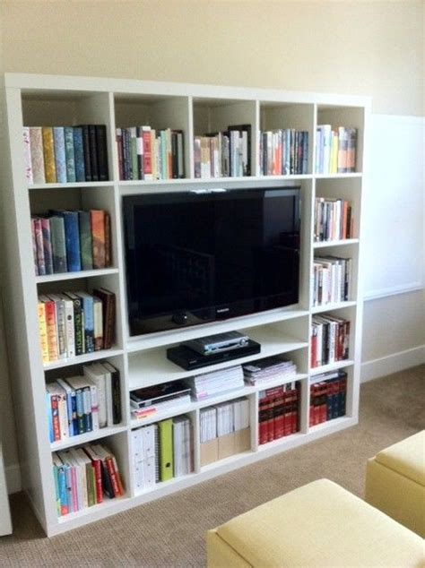 bookshelves around tv 25 best ideas about ikea tv stand on media