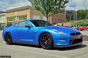 Blue Nissan Gtr Matte Blue Nissan Gt R Madwhips