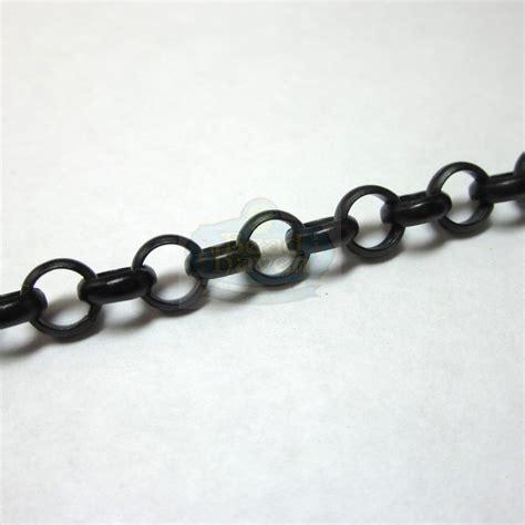 black chaign matte black 6mm rolo chain