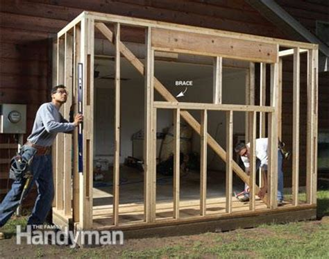 how to build a room addition yourself get more garage storage with a bump out addition the family handyman