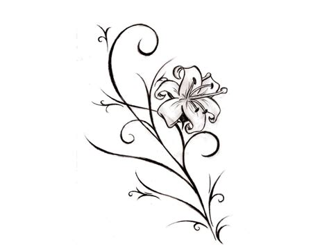swirly calla lily tattoo stencil ideas tattoo collection
